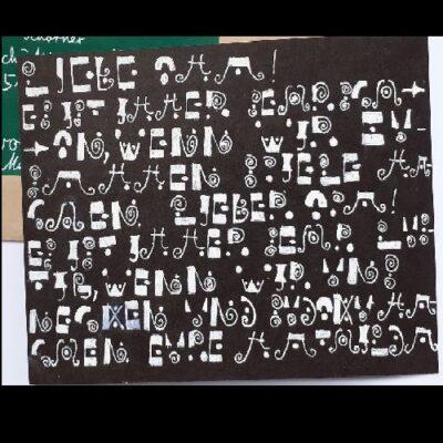 Mathilda Küsel-Postkarte mit Geheimschrift